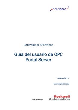 Guía del usuario de OPC Portal Server