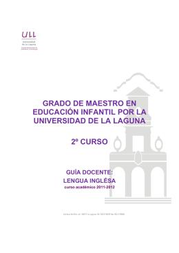 Lengua Inglesa - Universidad de La Laguna