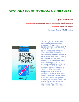 Diccionario de economia y finanzas