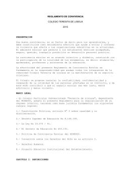 Reglamentos - Colegio Teresita de Lisieux