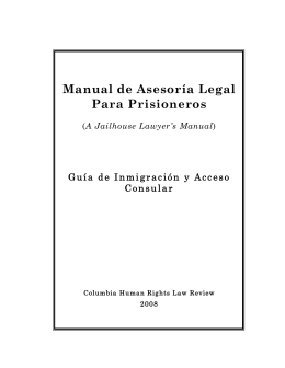 Manual de Asesoría Legal Para Prisioneros