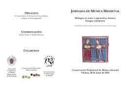 JORNADA DE MÚSICA MEDIEVAL