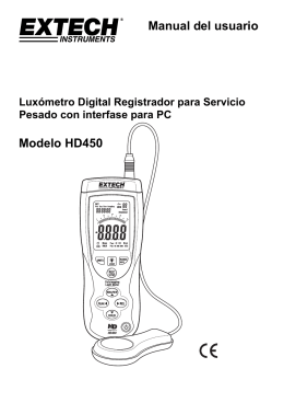 Manual del usuario Modelo HD450