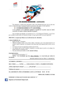 DÍA MADRID SNOWZONE – 2.015-2.016 Síguenos