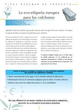 La eco-etiqueta europea para los colchones