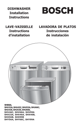 LAVADORA DE PLATOS Instrucciones de instalación