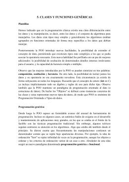 5. CLASES Y FUNCIONES GENÉRICAS