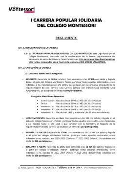 I CARRERA POPULAR SOLIDARIA DEL COLEGIO