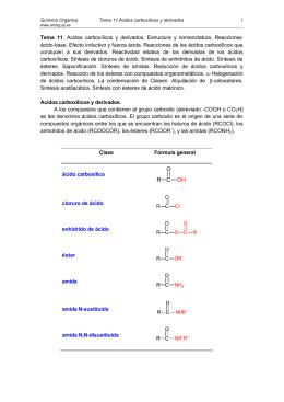 Acidos carboxílicos y derivados - Grupo de Sintesis Organica