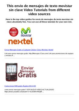 #Z envio de mensajes de texto movistar sin clave PDF