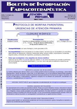 PROTOCOLO DE MORFINA PARENTERAL URGENCIAS