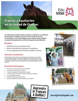 Francés y Equitación en la ciudad de Quebec - Edu