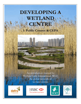 developing a wetland centre, English