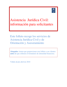 Asistencia Jurídica Civil - Scottish Legal Aid Board