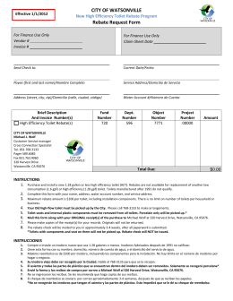 CITY OF WATSONVILLE Rebate Request Form