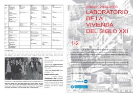 LABORATORIO DE LA VIVIENDA DEL SIGLO XXI 1-2