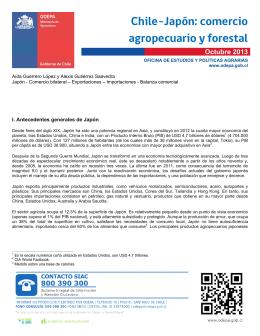 Chile-Japón: comercio agropecuario forestal