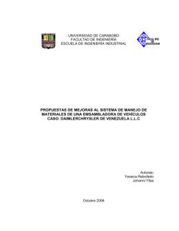 propuestas de mejoras al sistema de manejo de materiales de una
