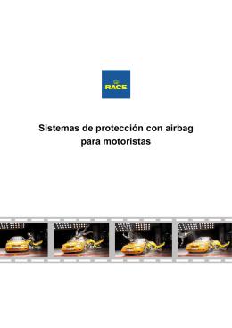 Sistemas de protección con airbag para motoristas