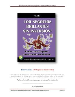 100 Negocios sin inversión | www.ideasdenegocios.com.ar