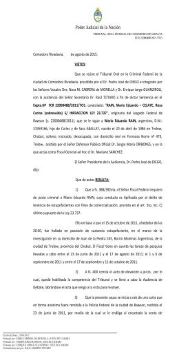 tribunal oral federal de comodoro rivadavia - secretaria