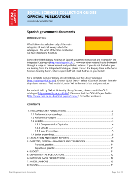 Spanish government documents