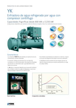 Enfriadora de agua refrigerada por agua con compresor centrífugo