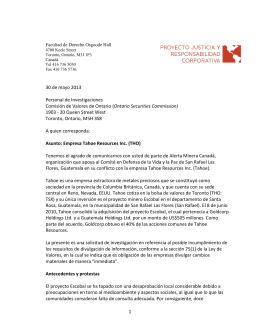 1 30 de mayo 2013 Personal de Investigaciones Comisión de