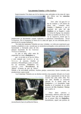 Las cataratas Victoria y el Rio Zambeze Impresionantes
