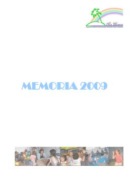 MEMORIA 2009 - Illa Blanca