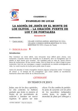 LA AGONÍA DE JESÚS EN EL MONTE DE LOS OLIVOS. – LA
