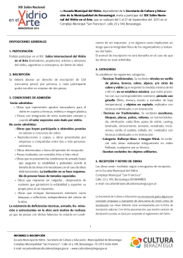 reglamento 19º salón nacional de vidrio en el arte