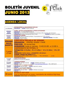 JUNIO 2013 - Centro Joven