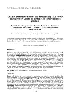 Genetic characterization of the domestic pig (Sus scrofa domestica