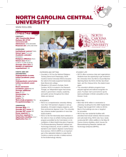 North caroliNa ceNtral UNiversity