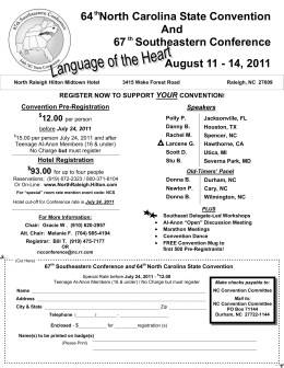 SE 2011 Conf & NC Conv Final Flyer.pub