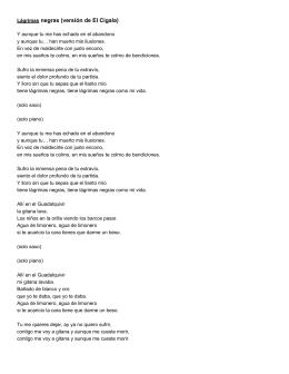 Lágrimas negras (versión de El Cigala)