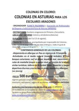 colonias en asturias
