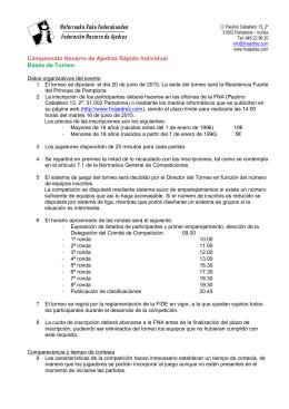 Individual. 20 Junio - Federación Navarra de Ajedrez