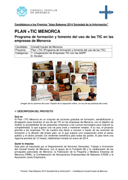 PLAN +TIC MENORCA