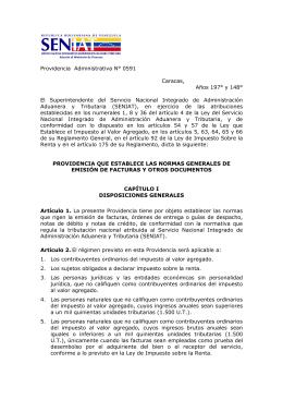 Providencia Administrativa N° 0591. Publicada en