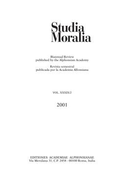 Vol. XXXIX / 2 - Studia Moralia
