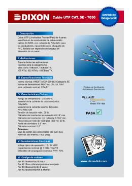 DIXON Cable UTP CAT. 5E - 7050 PASA
