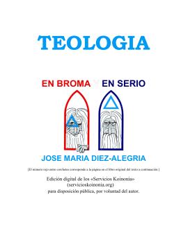 Teología En Broma Y En Serio