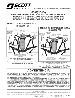 ADVERTENCIA - Scott Safety