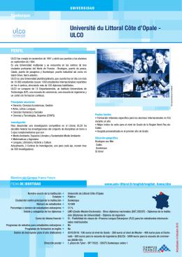 Université du Littoral Côte d`Opale ‑ ULCO