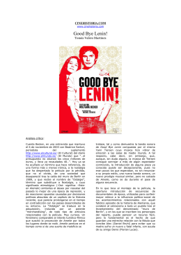 """Good Bye, Lenin!"" (Wolfgang Becker, 2003)"