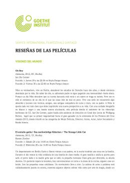 RESEÑAS DE LAS PELÍCULAS