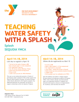 Splash SEQUOIA YMCA TEACHING WATER SAFETY WITH A