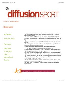 Infogaceta Diffusion Sport - nº 386